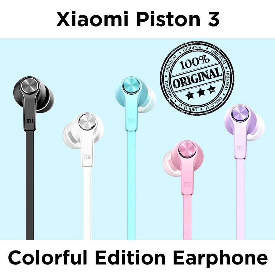 Xiaomi Mi Piston Huosai 3 Earphone Colorful Edition Original Hitam Shopee Indonesia