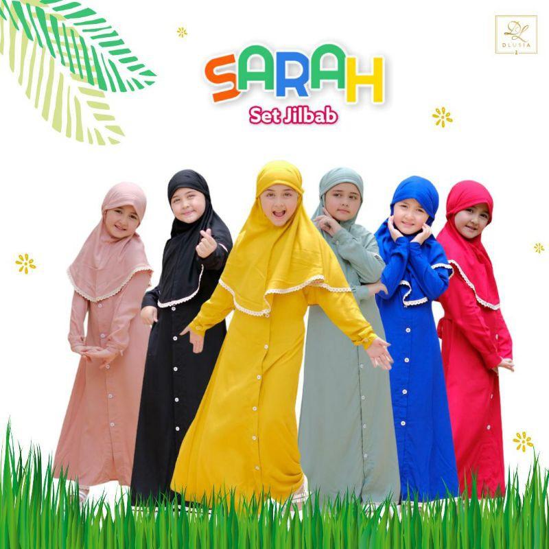 Dlusia Sarah Kids Set Hijab Anak Ori