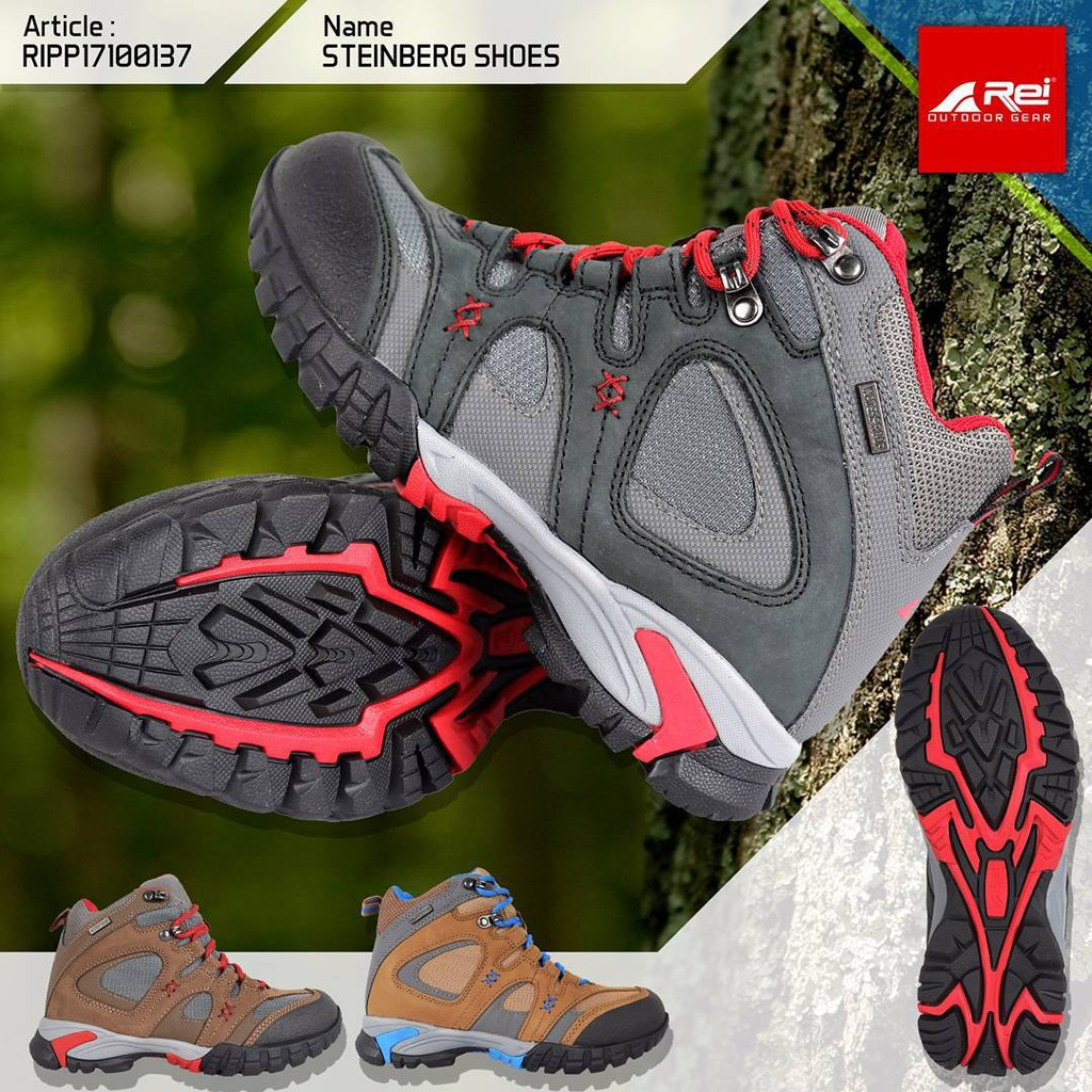 Snta 476 Sepatu Gunung Hiking Outdoor Brown Orange 467 Series Trekking Shopee Indonesia