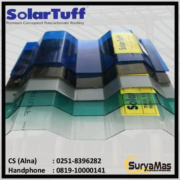 Atap Polycarbonate Solartuff Greca 0 8 Mm Shopee Indonesia