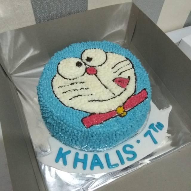 Kue Ulang Tahun Anak Cake Birthday Karakter Doraemon Diameter 20cm Shopee Indonesia