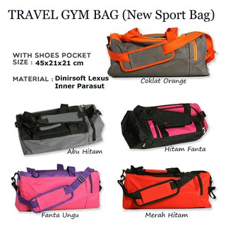 Travel Gym Bag 2in1 New Sport Bag Travel Sport Bag Tas Senam Tas Olahraga Bisa Selempang n Jinjing