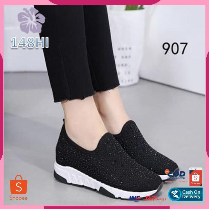 Cod125 Sepatu Sneakers Wanita Tanpa Tali Shopee Indonesia