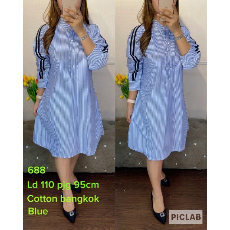 tunik salur soft blue 688