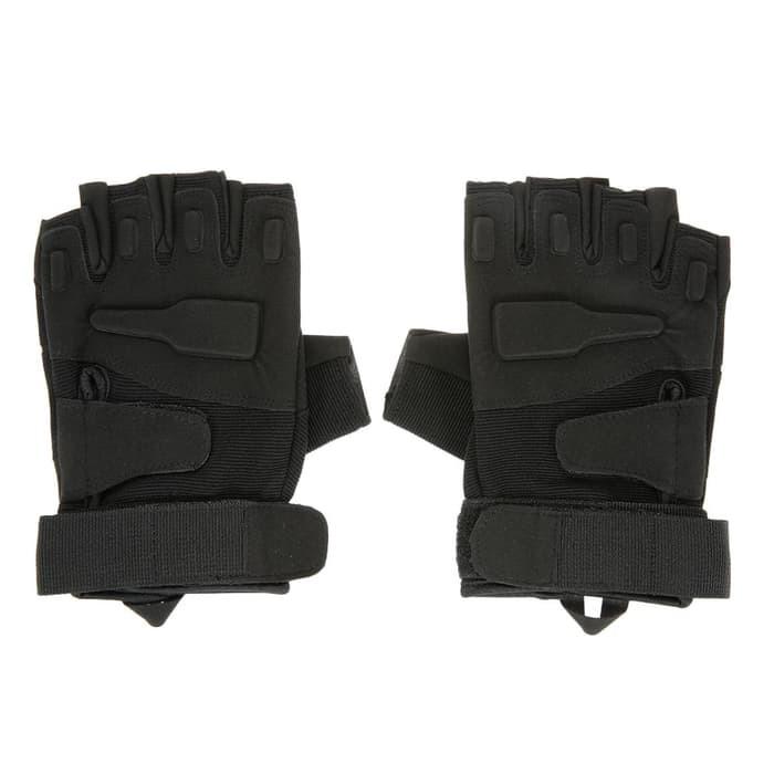 Sarung Tangan Motor Military Tactical Half Glove Black Eagle Army HITAM Murah