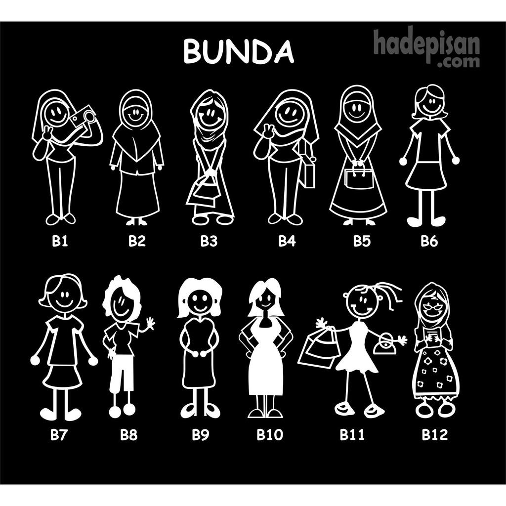 STIKER HAPPY FAMILY JUMBO - CUTTING STICKER KACA MOBIL   Shopee Indonesia