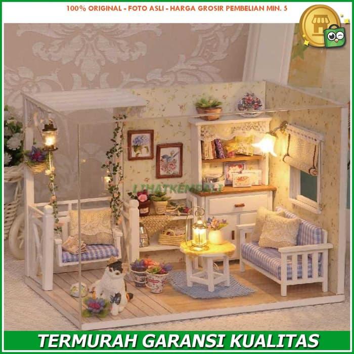 Pajangan Miniatur Rumah Boneka 3D DIY 1 24  42ab455890