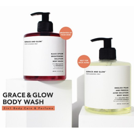 Grace & Glow Black Opium Brightening Booster - English Pear and Freesia Anti Acne Solution Body Wash