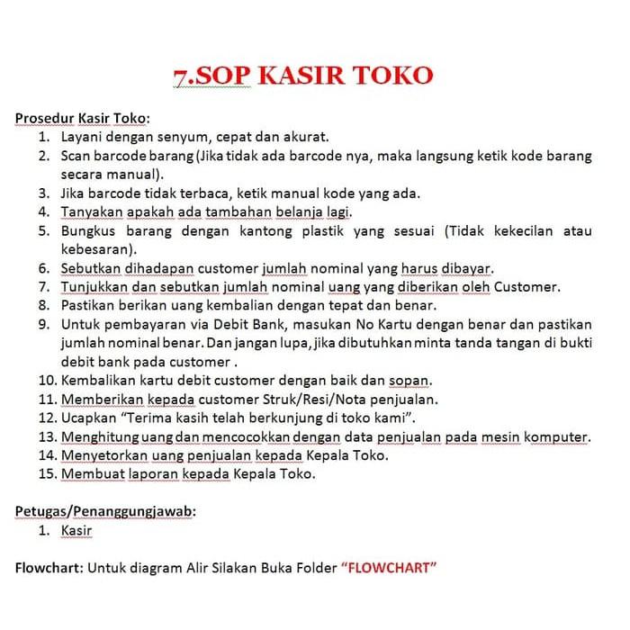 Sop Minimarket Flowchart Jobdesc Panduan Standardisasi Toko Shopee Indonesia