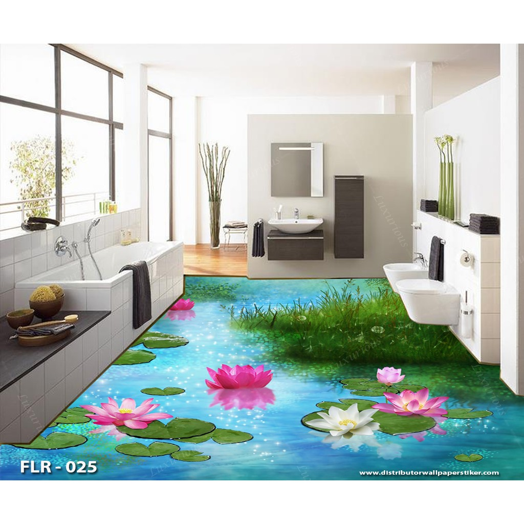 3D Wallpaper Custom Sticker Lantai 4