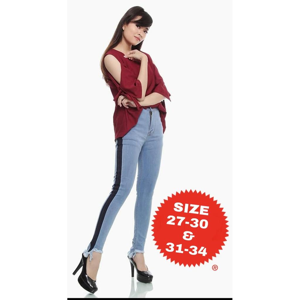 Real Pictrok Jeans Wash Jumbo Light Blue Dark Hitam R119 Rok 7 8 Drakblue Jsk5012 Allsize Shopee Indonesia