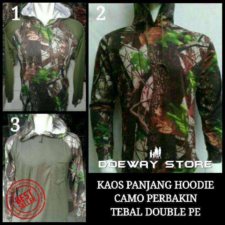 BEST SELLER Baju Kaos Panjang Camo Perbakin Oak Tree Hunting MURAH MERIAH | Shopee Indonesia