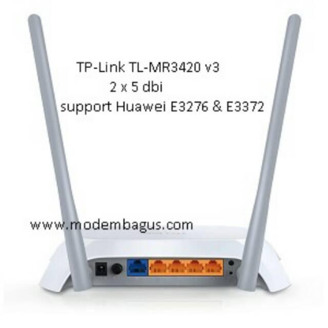 Router 3G/4G TPlink TP-Link MR3420 TL-MR3420 versi 3 v3 support USB Modem  3G 4G LTE