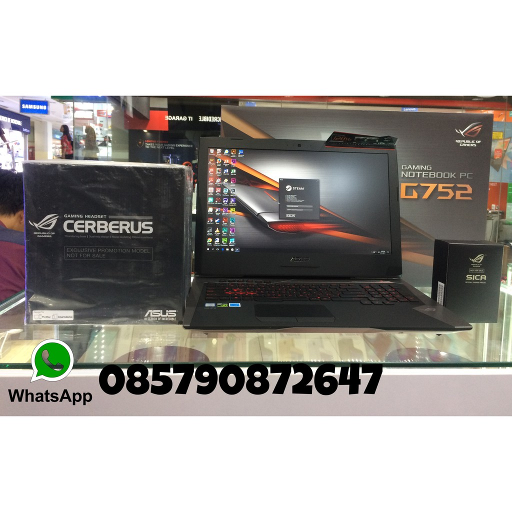 Asus Rog Gl503vm Fy916t 8gb 128gb Ssd 1tb Hdd Gtx1060 6gb Win10 Laptop Strix Black Shopee Indonesia