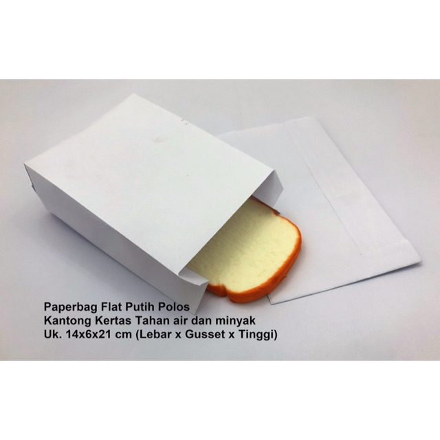 Kantong Kertas- Paper Bag - kantong kertas putih Kantong Roti / Donat / Kue | Shopee Indonesia