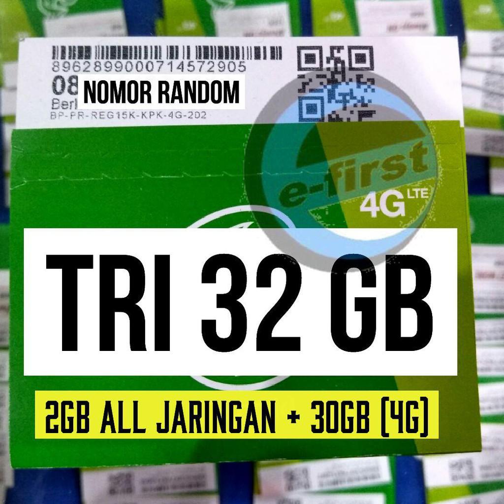 Kartu Perdana Tri Aon 3gb 6gb 21gb 30gb Shopee Indonesia New Kpk