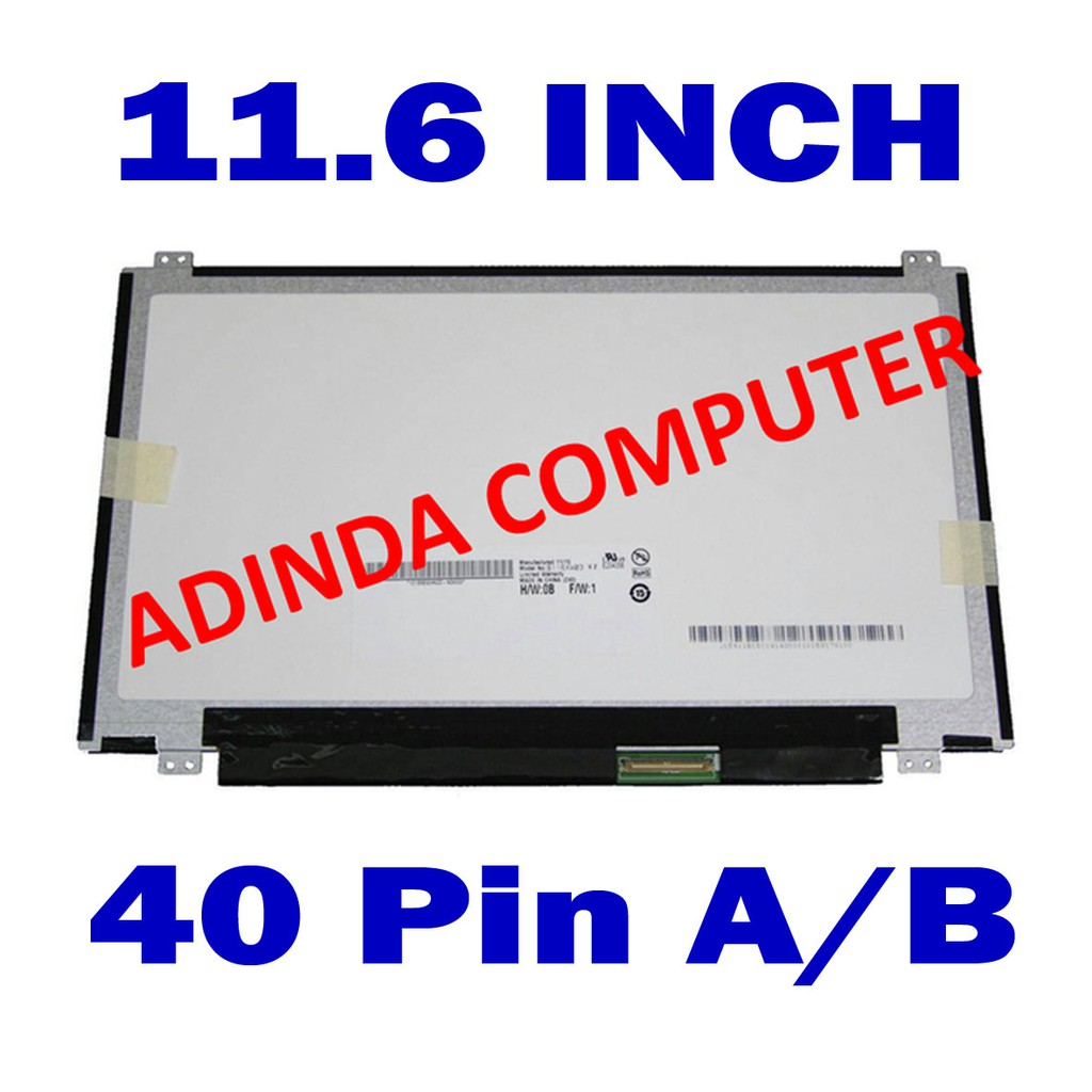Lcd Led Original 116 Slim 40 Pin Toshiba Satellite Nb10 A 14 0 Standart 30 Untuk Laptop Nb10t Nb15 Nb15t Shopee Indonesia