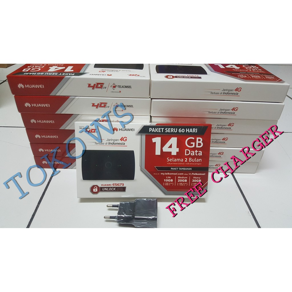 Exclusive Modem Huawei E5577 Unlock Wifi Mifi Paket Telkomsel 14gb Bundle 2bln Terbaru Shopee Indonesia