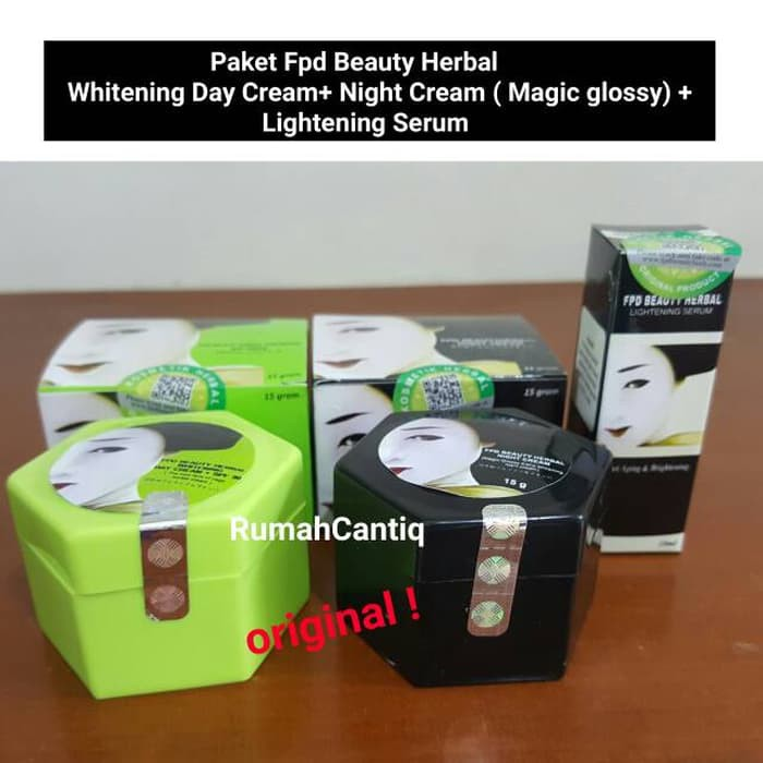PAKET LENGKAP FPD BEAUTYHERB ORIGINAL - DAY CREAM + NIGHT GEL + SERUM + SABUN / PAKET MAGIC GLOSSY | Shopee Indonesia