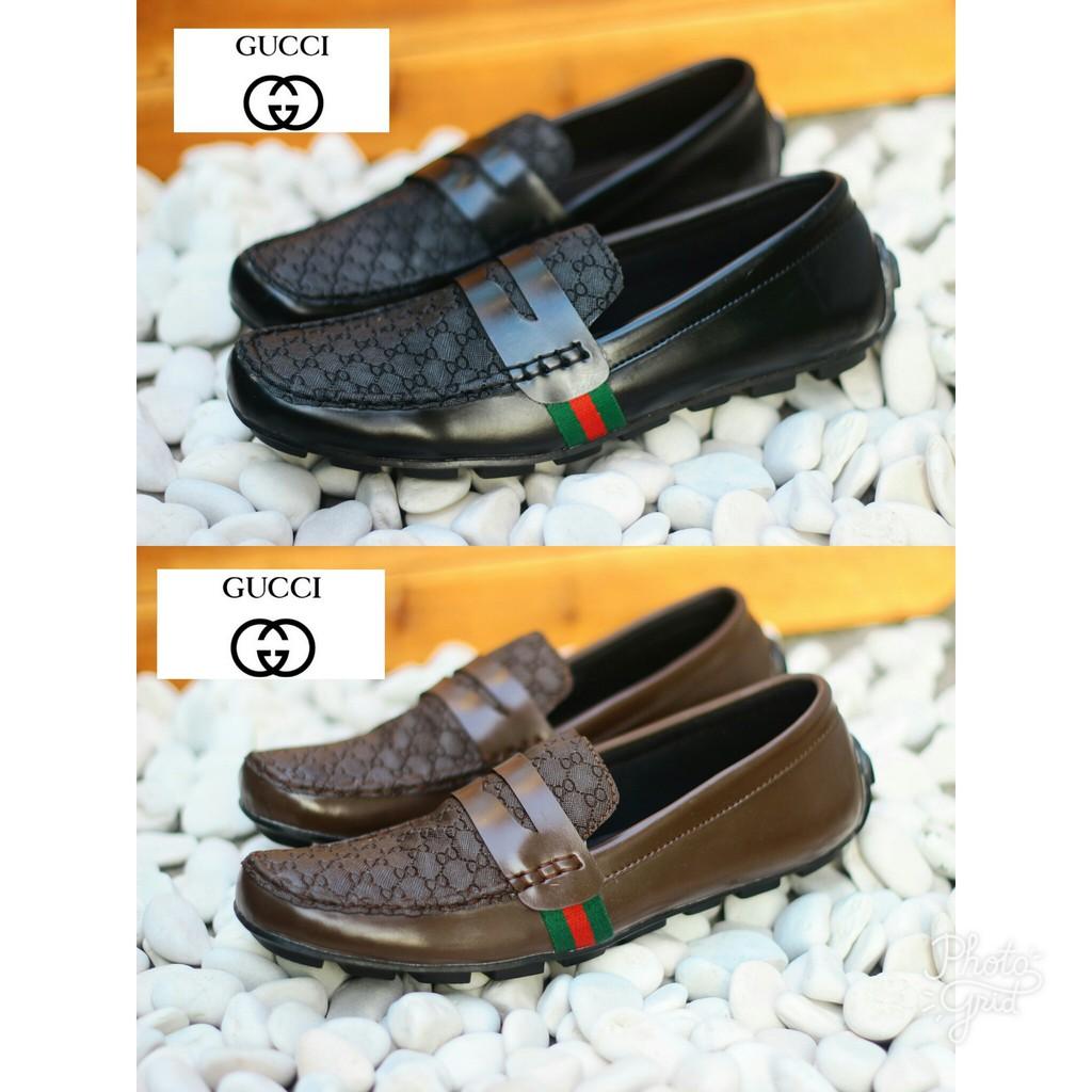 Harga Grosir Sepatu Pria Slop Loafers Guci Gucci Pantofel Slip On Kantor  Kickers - Hitam 80a4da6d1e