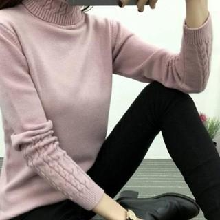 Women Turtleneck Winter Sweater Long Sleeve Knitted Sweater