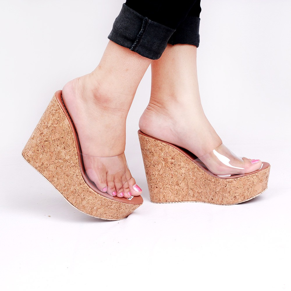 Wedges Vahncollections Pesta Santai Wanita Tali Suede Sampan Motif Sendal Imoet Bunga Lucu Hitam Mr12 Shopee Indonesia