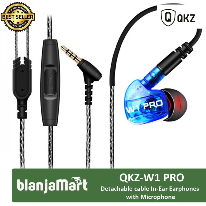 Knowledge Zenith Sport Detachable In-ear Earphones Mic QKZ-W1 PRO   Shopee Indonesia