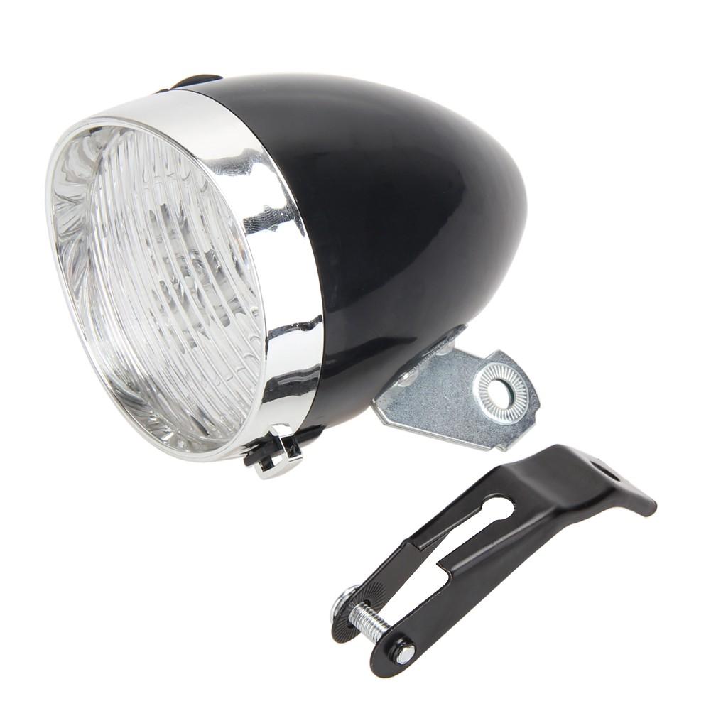 Bicycle Headlight 3 LED MTB Bike Vintage Flashlight Bracket Cycling Torch