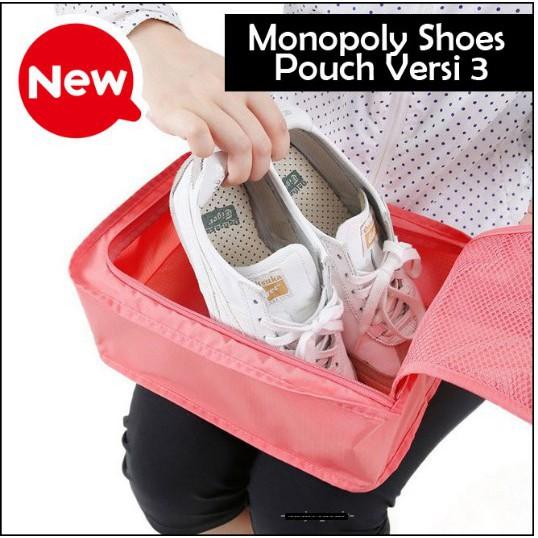Korean Shoes Pouch, Travelling organizer, Tempat Sepatu, Tas Sepatu   Shopee Indonesia