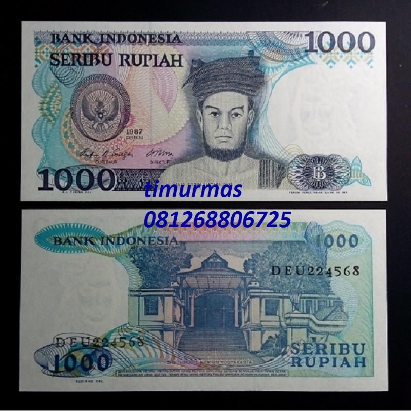 Uang Lama Kuno 1000 Rupiah 1987