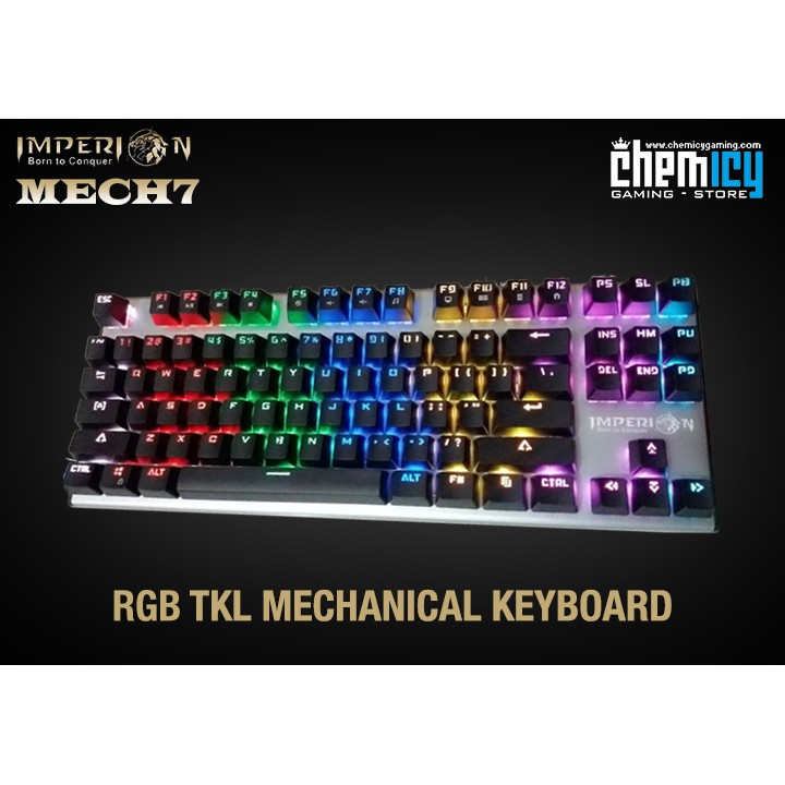 Keyboard Gaming Mechanical Imperion Mech 7 Rgb Shopee Indonesia