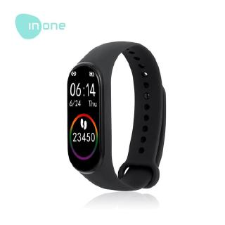 Inone Smartband  Bracelet M4 Black Bluetooth Fitness tracker Colour Display, HeartRate, Waterproof