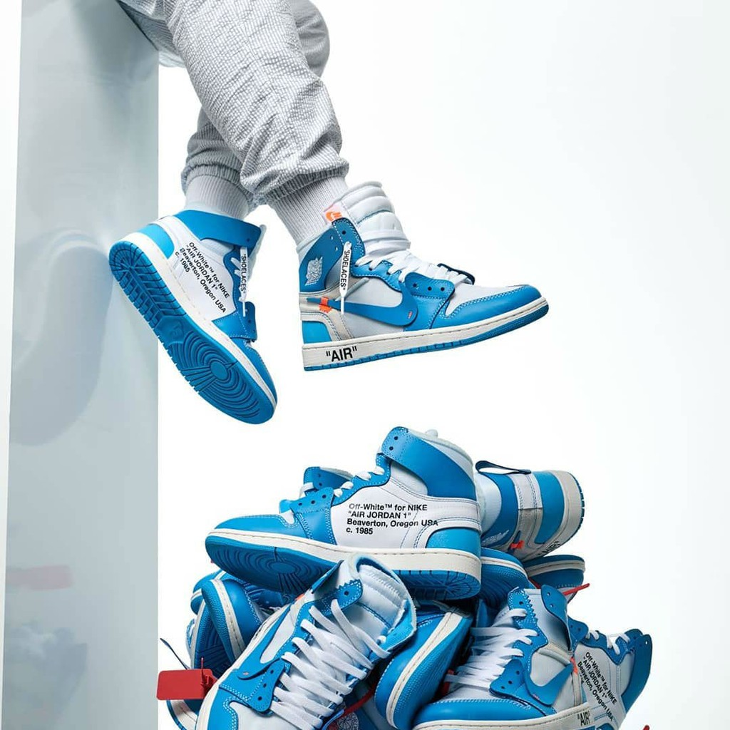 new concept 4fd57 e71fd Nike Air Jordan 1 X Off White UNC Blue - Mirror Quality