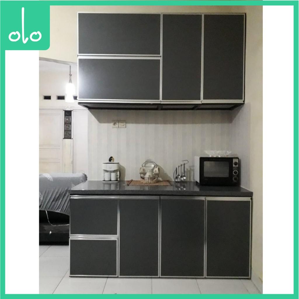 Kitchen Set Aluminium Shopee Indonesia Kitchen set bahan aluminium
