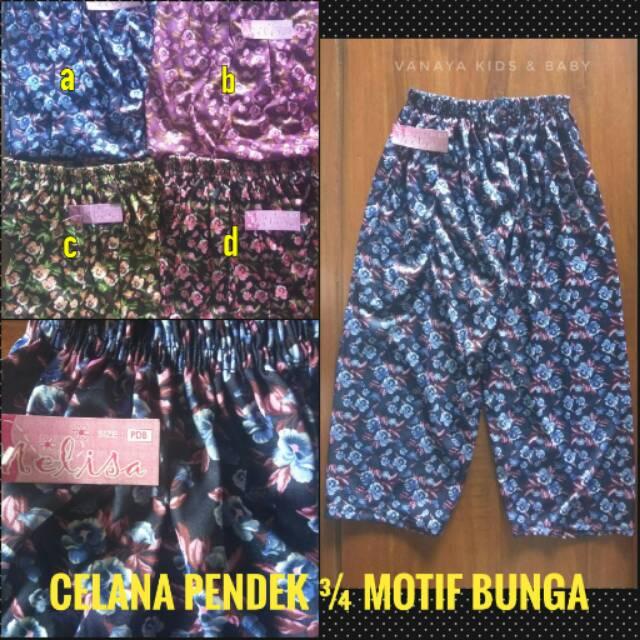 Celana Legging Dewasa Motif Bunga Shopee Indonesia