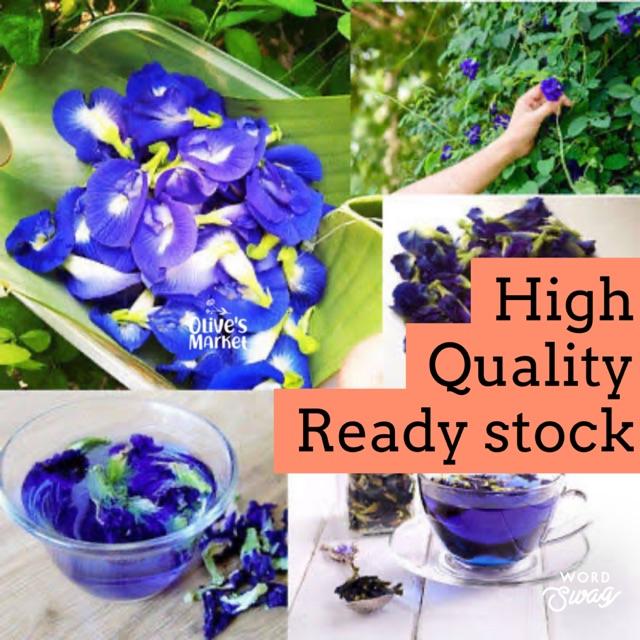 Bunga Telang Butterfly Pea Tea Teh Biru Teh Warna Biru Bunga Telang Kualitas Super 10gr Shopee Indonesia