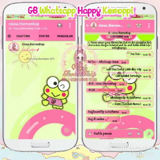 Tema Whatsapp Wa Happy Keroppi Shopee Indonesia