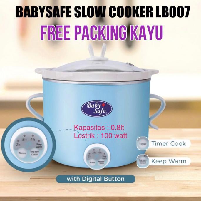 Hemat Baby Safe Slow Cooker Lb007 Babysafe Food Maker Best Seller   Shopee Indonesia