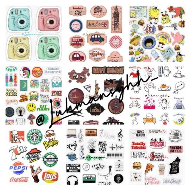 Stiker Case Lucu Aesthetic Order Min 3 Stiker Handphone Stiker Keren Baca Desk Shopee Indonesia