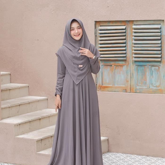 Baju Gamis Syari Wanita Terbaru Mayra Setelan Syari Ceruty Termurah Bjht4 Shopee Indonesia