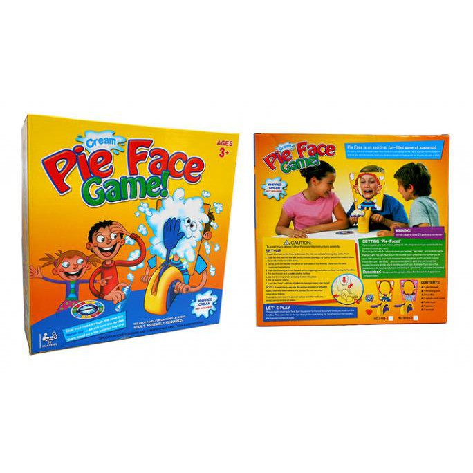 mainan anak dan keluarga IMPORT terbaru murah kekinian PIE FACE GAME TOYS cream | Shopee Indonesia