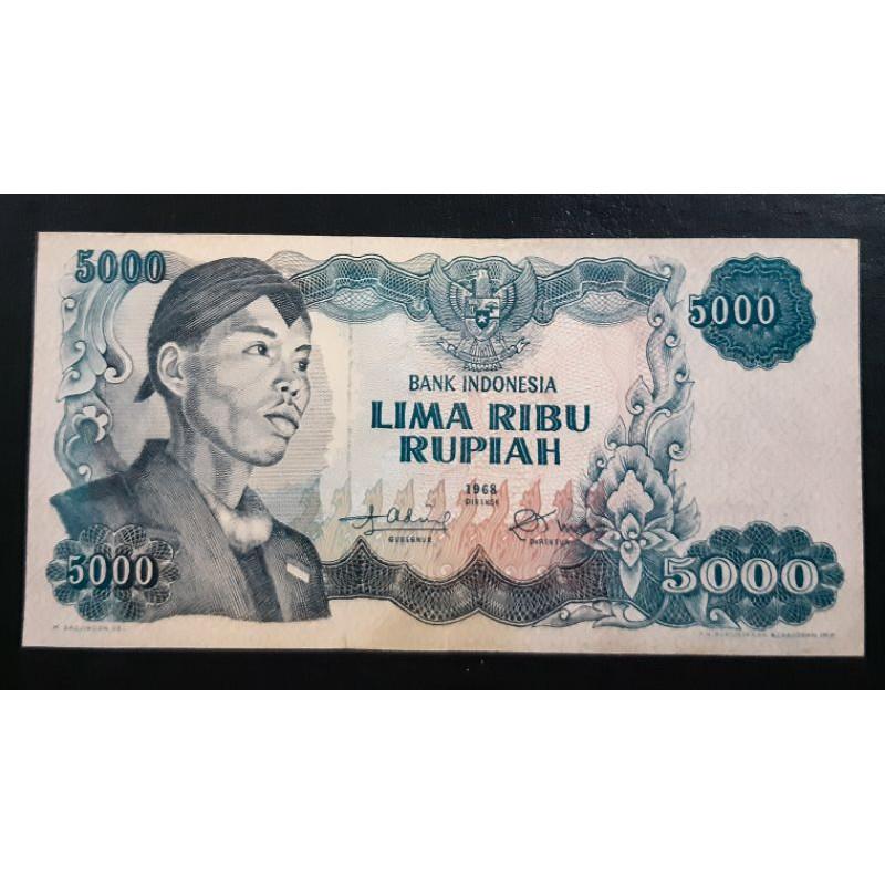uang kuno 5000 rp 1968 Sudirman