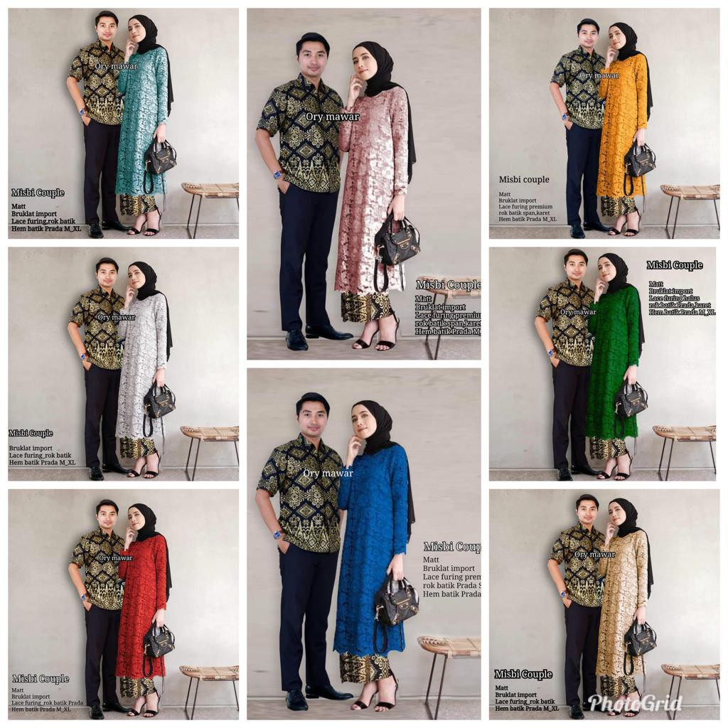 Set duyung batik brokat peplum  30ee244a77