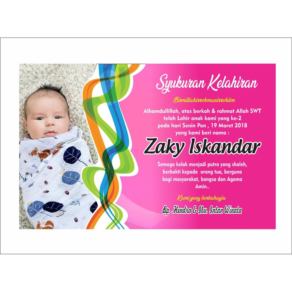 Contoh Kartu Ucapan Syukur Atas Kelahiran Anak - Berbagi ...