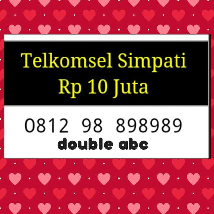 NOMOR CANTIK/XL BEBAS/seri triple&double ab/bagus/rapih/super hoki,, | Shopee Indonesia