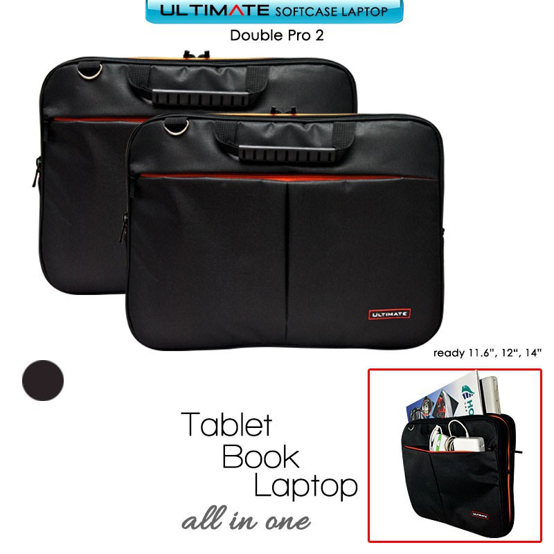 "Tas Laptop softcase ULTIMATE Classic 10"" 11.6 12"" ."