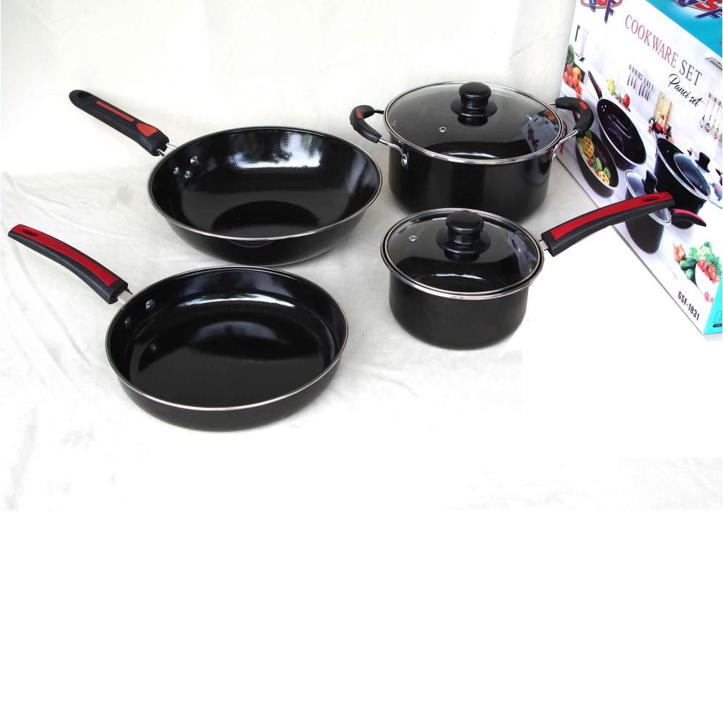 Cookware set 5 pcs panci set 5 pcs - peralatan masak set - frypan set -  Stock Pot Set