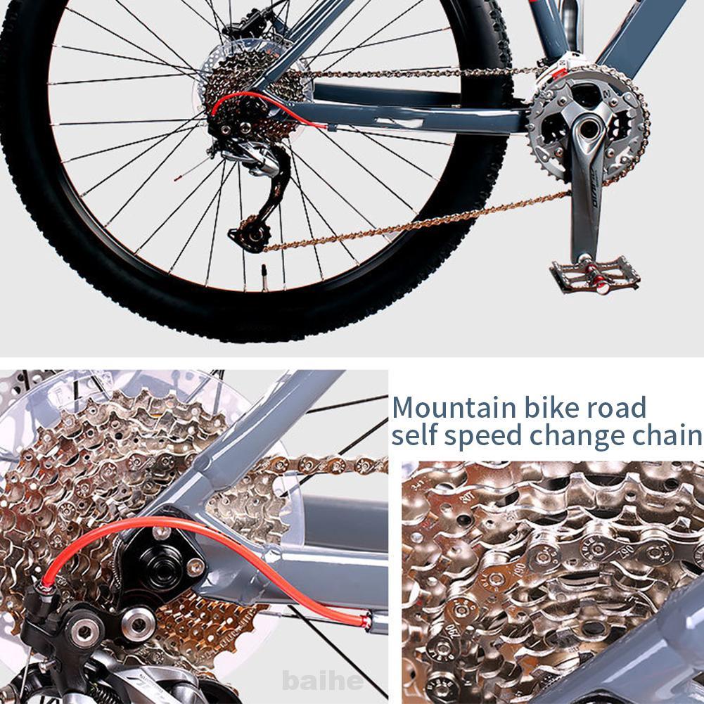Multi speed Bicycle Chain 1//2x3//32 116 links 5 6 7 speed 3//32 MTB Road Bike