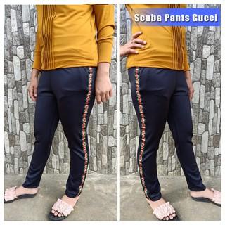 Terlaris Celana Scuba List Pinggir Gucci Celana Bahan Legging Kekinian Scuba Pants Melar Grosir Shopee Indonesia