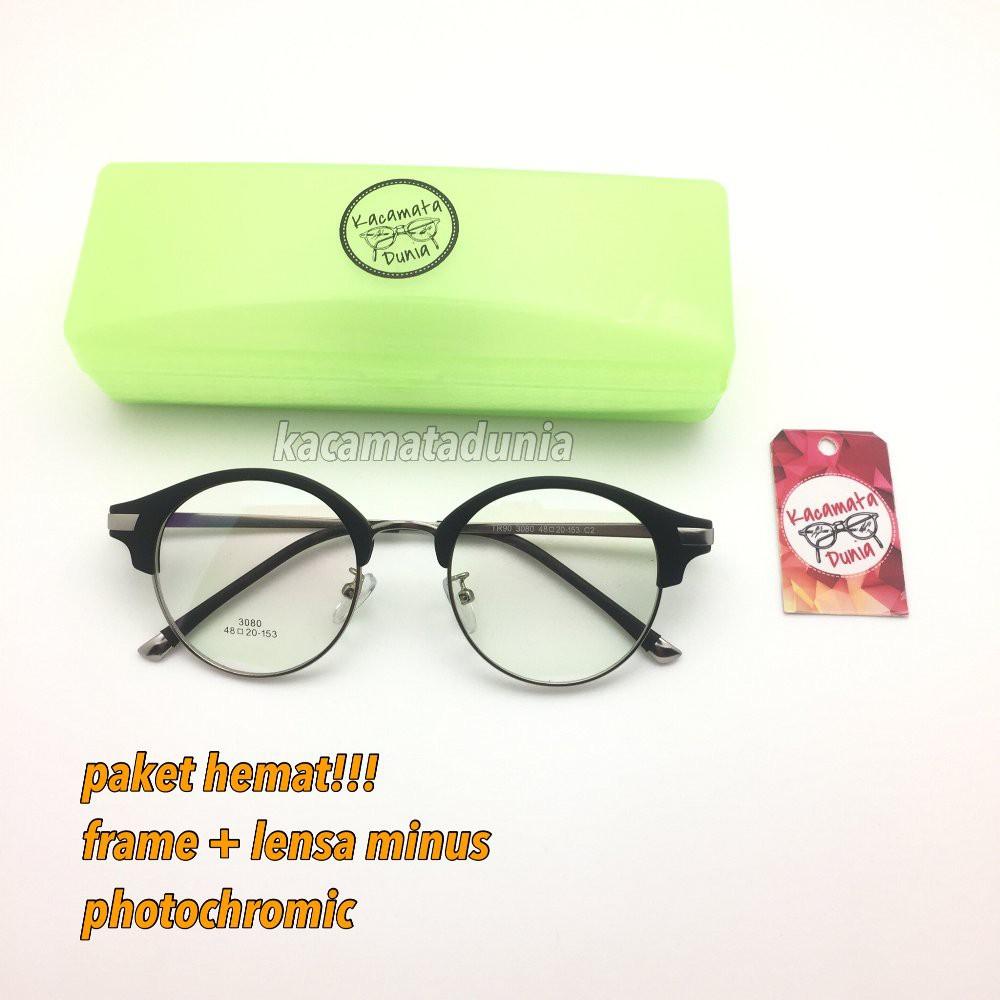 READY  frame kacamata baca american vintage 3080 black free lensa minus  photochromic Murah  85c21fb173